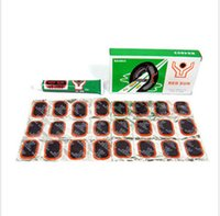 tire repair tools - 48pcs Bike Tire Rubber Patches With One Bike Patch Glue Cycling Tire Tube Repair Kit Tool