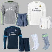 Wholesale Real Madrid Socks Top A Thai Quality Espa La Liga Real Madrid Home White Away Grey Football Chaussette Soccer Calcetines