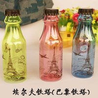glass soda bottle - Paris Eiffel Tower soda bottles Yi Erfei convenient creative cup glass Water Bottle Cycling Bicycle Bike Sports Kettle