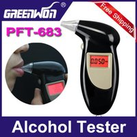 Wholesale New CE FCC RoHS Digital LCD Alcohol Tester Breath Analyzer breathalyzer with breath Mouthpieces