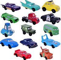 bicycle figure - 14pcs set PVC Pixar Car Figures Toy Boys Birthday Gift set sheriff mack truck movie cartoon cars movie in stock