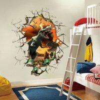 Etiquetas engomadas de las etiquetas engomadas de la pared del dinosaurio 3D para el arte de las habitaciones de los cabritos para la decoración del hogar del sitio del cuarto de niños del bebé