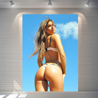 bathroom pictures art - Sexy bikini beauty picture poster vintage poster Bar Pub Cafe Home Wall Decorative Art Poster photopaper poster Pictures cm
