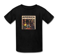 albums america - Hot Sale Men Tee Tops T Shirts Custom AMERICA album Men Summer Shirt cotton Short Sleeve Man T Shirts S XXXL