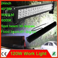 Wholesale 120W Inch LED Work Light Car light Bar Lights Driving Lamp Flood Spot Combo Beam Truck SUV Boat WD ATV UTE Tractor