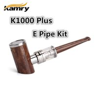 Cheap 2016 Newest E Pipes Original Kamry K1000 Plus Starter Kit Vape Epipe Mods Vaporizer LED Light Ring 1000mah Battery E Cigarette Tank Atomizer