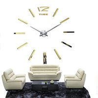 Wholesale 2016 New Home decoration wall clock big mirror wall clock Modern design large size wall clocks diy wall sticker unique gift