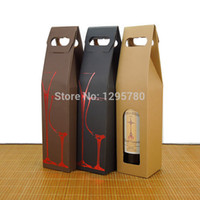 Wholesale cm Single Wine Carton Packaging Boxes Paper Wine Box