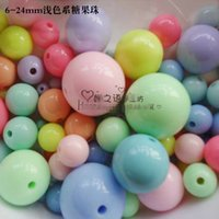 Wholesale 1000Piece Fashion DIY mm Macarons Color Acrylic Round Shape Beads DIY Hand made Beads