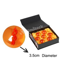 animation factory free - 3 CM In Diameter Dragon Ball New In Box DragonBall Stars Z Crystal Balls Set of Animation With Retail Box Free DHL Factory Direct