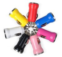 Wholesale V A Mini USB Auto Car Charger Cigarette Lighter Adapter For iphone plus s c s Cell phone charger