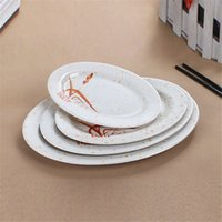 Wholesale Melamine Dinner Plates Restaurant Dinner Plate Restaurant Oval Plate Different Inch Food Plate Fashion Design for Sale