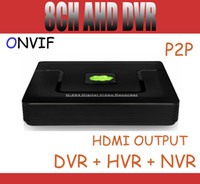 VGA tb - 8CH Hybird AHDL CCTV DVR Full D1 Security DVR NVR HVR in support Onvif HDMI P2P For AHD IP Analog Camera