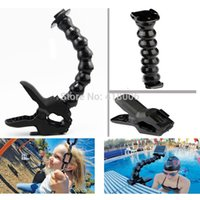 Wholesale Go pro Accessories tripod monopod Jaws Flex Clamp Mount and Adjustable Neck for GoPro Camera Hero1 sj4000