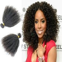 Cheap 4pcs Natural Black Color Kinky Curly Hair Weaves,Indian Remy Hair Extensions,Afro Kinky Curly Virgin Human Hair,Can Be Bleached Dyed,AA403