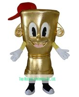 award cup - Gold Award Trophy Cup Mascot Costume For Adult