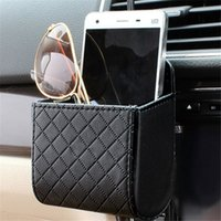 Wholesale Mini Car Tuyere Grocery Bags Organizer Car Bag Cell Phone Pocket Car PU Pouch Hanging Car Storage Outlet EJ872440