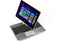 Wholesale Touch screen laptop inch rotating notebook Intel Celeron U Win7 OS wifi HDMI camera Ghz dual core Touch panel screen laptop