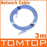 Wholesale RJ45 Cat6 Flat Ethernet Patch Network Lan Communication Cable Equipment m Free Drop Shipping