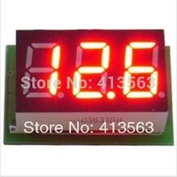 Wholesale Portable Digital Voltmeter DC0 V Red Light LED Panel Voltage Meter S7NF drop shipping