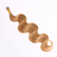 cold fusion hair extensions - 1g strand strands Pack Color B body wave brazilian Remy Italian Kertain I Tip Hair Extension Cold Fusion Hair Extension