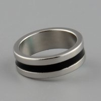 Wholesale Hot New Strong Magnetic Magic Ring color Silver Black Finger Magician Trick Props Tool Inner Dia mm Size L