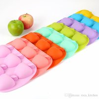 Cake Moulds baking apples - New silicone cake mold apple chocolate mold ice lattice baking cookie mold top fashion freeshipping
