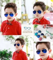 baby mirrors - New Fashion Children Sunglasses Boys Girls Kids Baby Sun Glasses Kids Eyewear Outdoor Glasse Goggles UV400 Mirror Glasses Free Shi