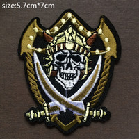 Wholesale 5 cm cm skull embroidered Iron Quality Appliques DIY Hat garment bag patches