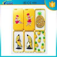 Cheap Universal Cartoon Banana Case For iPhone 6 6plus 6S 6Splus Samsung S6 edge Note 4 5 Mobile Phone