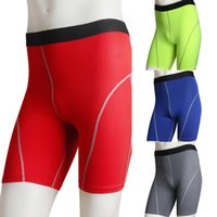 Pantalones deportivos de compresión de los hombres al por mayor-nuevos que activan la base de la gimnasia de la capa pantalones cortos Pantalones Pantalones de las medias atléticas