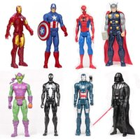 Wholesale 12 quot CM New The Avengers Toys Figures SpiderMan Iron Man Captain America Hulk Thor action Figures Children Toys Dolls Kids gifts