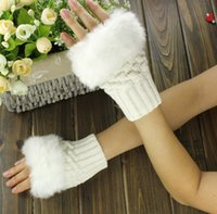 Wholesale 10 Pair New Women Lady Girls Autumn Winter Warm Gloves Arm Warmer Long Fingerless Knitted Soft Mittens