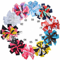 tiaras for kids - 100pcs M2MG Gymboree Baby Hairbows Layered Korker Curlies Ribbon Hair Bows clips Boutique Corker for Children Kids Headwear headbabd PD014