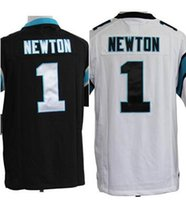 Cheap 1 NEWTON white blue Custom Elite Jersey Men size free shipping American Football Jerseys Men size free shipping Top quality