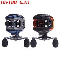 Wholesale NEW BB Ball Bearings Right Hand Baitcasting Carp Fishing Reel High Speed Pesca Blue Black AF103