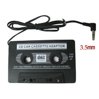 Cheap car dvd New Audio Car Cassette Tape Adapter Converter 3.5 MM For Iphone Ipad MP3 AUX CD New