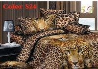 al por mayor el algodón determinado de la hoja de matrimonio-El NUEVO algodón determinado 4pc del lecho del lecho de los sistemas de la cama de la NUEVA 3D-2015 al por mayor incluye el tamaño de la reina de la almohadilla de la hoja de cama de cubierta de Duvet)