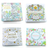 Wholesale 2015 hot new coloring book for kids Secret Garden Alice s dream Enchanted Forest coloring pages kids drawing books painting sketch