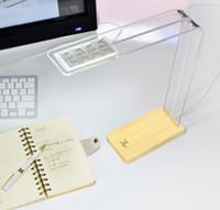 Wholesale Design Pie original simple wooden LED desk lamp usb powered desk lamp touch dimmer intelligent touch sensitive lights