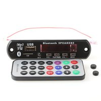Wholesale Car Bluetooth MP3 WMA Decoder Board V Wireless Audio Module USB TF Radio