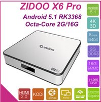 Wholesale ZIDOO X6 Pro Android TV Box RK3368 GHz G G AC Bluetooth D KODI Aluminium Smart TV Box IPTV Media Player