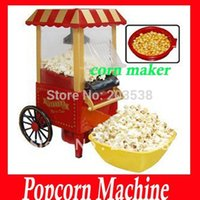 popcorn machine maker - 2014 Christmas Gift Diy Mini Carriage Shape Nostalgic Hot Air Popcorn Machine Poper Pop Corn Maker Popcorn Popper V