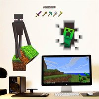 Wholesale In stock D Walls Minecraft Wall Stickers Creeper Decorative Wall Decal Cartoon Wallpaper Kids Party Decoration Christmas Exclusive Sale