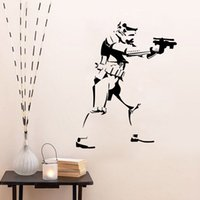 Paper Home Decor - Star Wars Storm Trooper Wall Decal Sticker Home DIY Decoration Wall Mural Removable Bedroom Decor Stickers cm