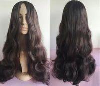 Wholesale hot sale jet black body wave synthetic lace front wig heat resistant lace wig for black women cm long