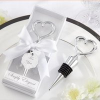 heart bottle opener - 20pcs Fashioin Creative Wedding Favors Bottle Openers Heart Wine Stopper Supplies Exquisite Packaging