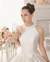 arabic modern standard - 2015 New Year No Risk Shopping wedding dress Fashion Pearls Floor length Court Standard code Satin Wedding gown new arabic dresses