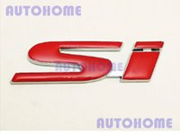 Wholesale 4X Red SI Trunk Logo Emblem Decal Self Adhesive order lt no track