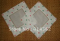 Wholesale 100 linen napkin square scoater embroidery cloth pad embroidery napkin